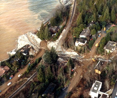 Alberta Creek debris flow 1983, Evans and Savigny 1994